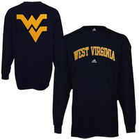 adidas West Virginia Mountaineers Relentless Long Sleeve T-Shirt - Navy Blue