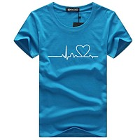 men T-shirts Casual Harajuku Love Printed Tops Tee Summer Female T shirt Short Sleeve T shirt For men Clothing