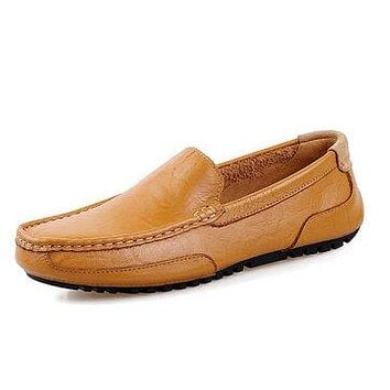 Men Leather Casual Driving Slip On Outdoor Flat Soft Comfortable Loafers Shoes