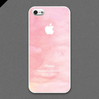 iPhone 5 Case - Unique Pink on Water Color Texture - also available in iPhone4s