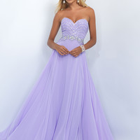 Strapless Sweetheart Blush Prom Dress 11070