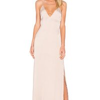 Capulet Deep V Maxi Dress in Champagne | REVOLVE