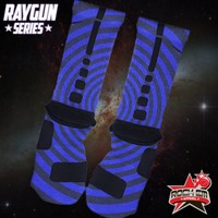 Raygun Series Custom Nike Elite Socks - Blue | Rock 'Em Apparel