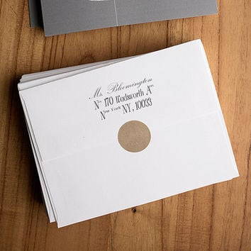 Custom Address Stamp with Handle - The Bloomington