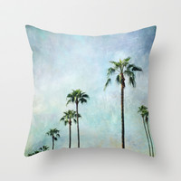 Palm trees Throw Pillow by Sylvia Cook Photography
