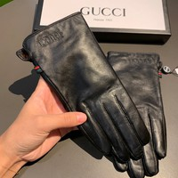 Gucci Women's Fashion Casual Leather Gloves