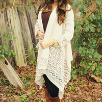 Sunset Triangles Cardigan: Tan/Brown   Hope's