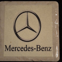 Coaster Mercedes Benz by TheCoasterMan on Etsy