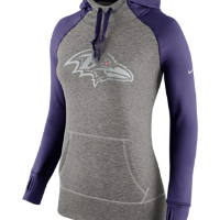Nike Platinum All Time Pullover (NFL Ravens) Women's Training Hoodie