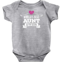 Worlds Best Aunt Ever Baby Onesuit
