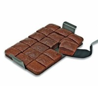 Chicago Metallic Non-Stick Slice Solutions Brownie Pan with Lid, 13 by 9 by 1-1/2-Inch