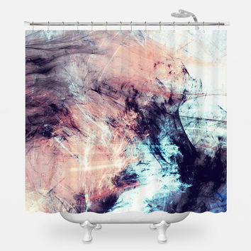 Marbled Glow Shower Curtain