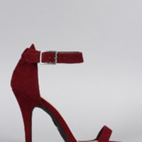 Women's Anne Michelle Suede Open Toe Heel