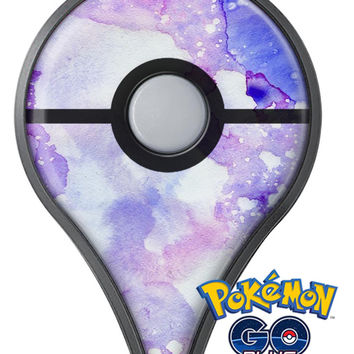 Blue 4 Absorbed Watercolor Texture Pokémon GO Plus Vinyl Protective Decal Skin Kit