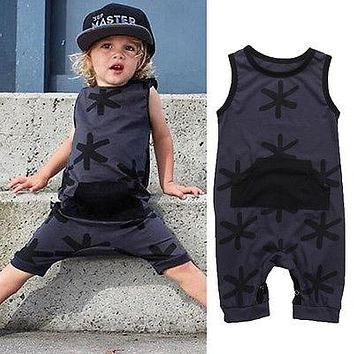 born Summer Rompers Cute Toddler Baby Girl Boy Cotton Jumpers Rompers Playsuit Outfits Clothes 0-3Y