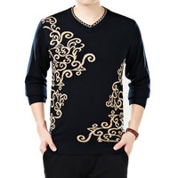 Knit V Neck Long Sleeve Pullover Sweater