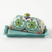 Okuno Butter Dish by Anthropologie in Multi Size: Butter Dish Kitchen