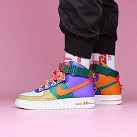 Nike Air Force 1 Colorblock Women's High-Top Sneakers Shoes