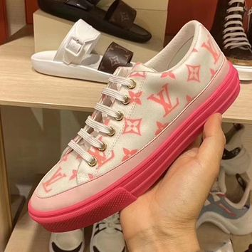 LV 2020 early spring new Monogram pattern casual canvas sneakers shoes