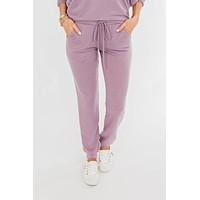 Solid Lounge Joggers- Lilac