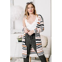 Where It Can Go Soft Knit Striped Cardigan