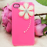 Pearl flower iphone 5 case iphone 4 iphone 4s case
