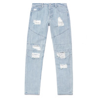 Stampd - Distressed Panel Denim - Blue