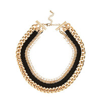 River Island Womens Gold tone tribal woven chain necklace