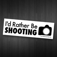 ID RATHER BE SHOOTING STICKER-Backdrop Outlet