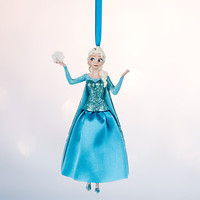 Disney Store 2016 Frozen Elsa Sketchbook Christmas Ornament New with Tags