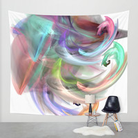 colorful smoke 1 Wall Tapestry by Haroulita