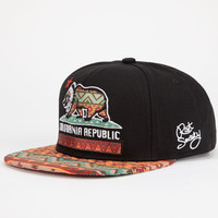 Riot Society Native Cali Mens Snapback Hat Black Combo One Size For Men 24723214901