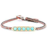 Brooke Gregson - 14-karat gold, sterling silver and turquoise bracelet