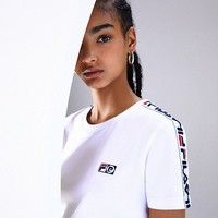 FILA + Pierre Cardin Short Sleeve Cropped Tee | Urban Outfitters
