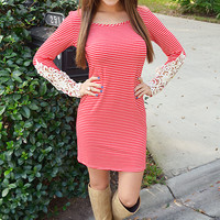 Candy Cane Dress: Red/White