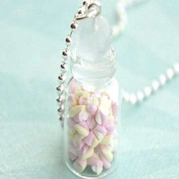Marshmallow Bites in a Jar Necklace