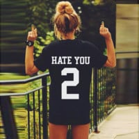 HATE YOU 2 Women's Sexy T-shirt