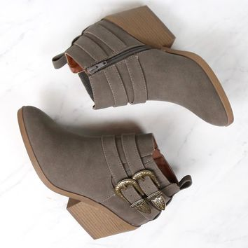 Nubuck Wedge Booties in More Colors