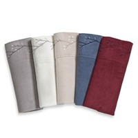 Berkshire™ Microloft Embroidered Pillowcases (Set of 2)
