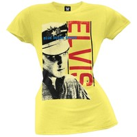 Elvis Presley - Blue Suede Shoes Juniors Subway T-Shirt
