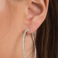 Ana Accessories Shine On Rhinestone Hoop Earrings