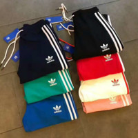 """ADIDAS"" Stripe Print Stretch Leggings Sweatpants Exercise Fitness Sport Pants Trousers G-A-GHSY-1"