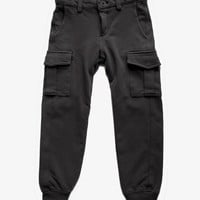 Eddie Pen Boys Cargo Trousers in Anthracite - CARYS - FINAL SALE