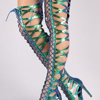 Pay Attention Gladiator Heel - Holographic