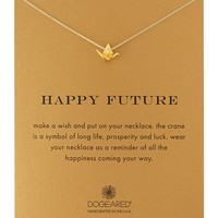 Happy Future Gold-Dipped Pendant Necklace - Dogeared