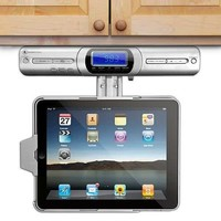 Innovative Technology Under Cabinet iPad Player Dock - FM Radio, Speakers & with Full Functional Remote