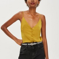 Satin Button Through Cami Top | Topshop