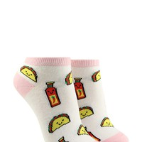 Taco & Hot Sauce Ankle Socks