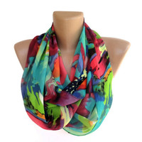 neon infinity women scarf , summer spring fashion accessories , girly , chiffon scarves , ALL TREND COLORS