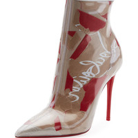 Christian Louboutin So Kate Paper Collage Red Sole Bootie
